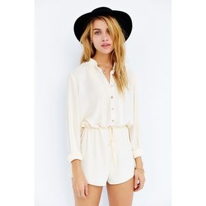 Urban Outfitters Cooperative Pleat-Front Romper